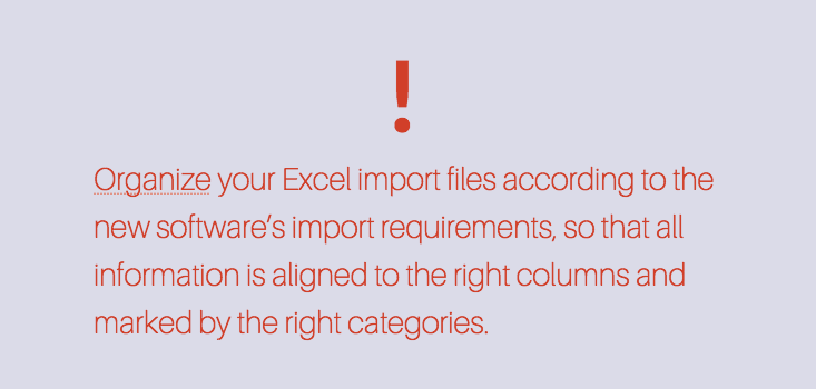 Import with Excel