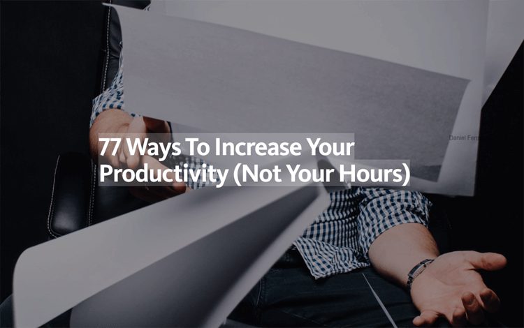 Medium Increase Productivity
