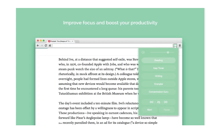 Noisli browser extension