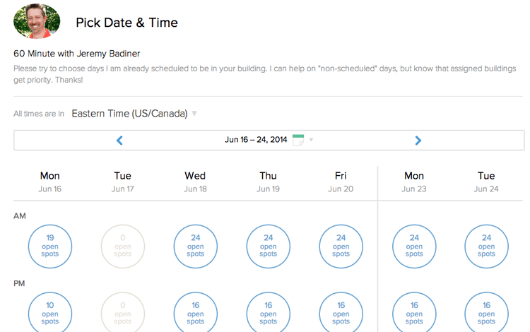 Scheduling Tools Calendly