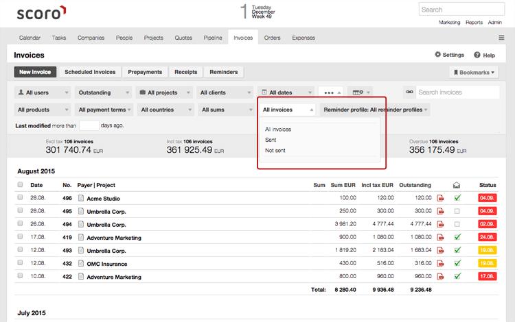 Scoro Invoices