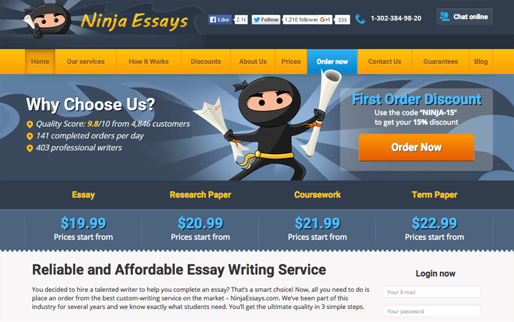 Business productivity tool Ninjaessays