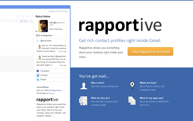 business tools Rapportive