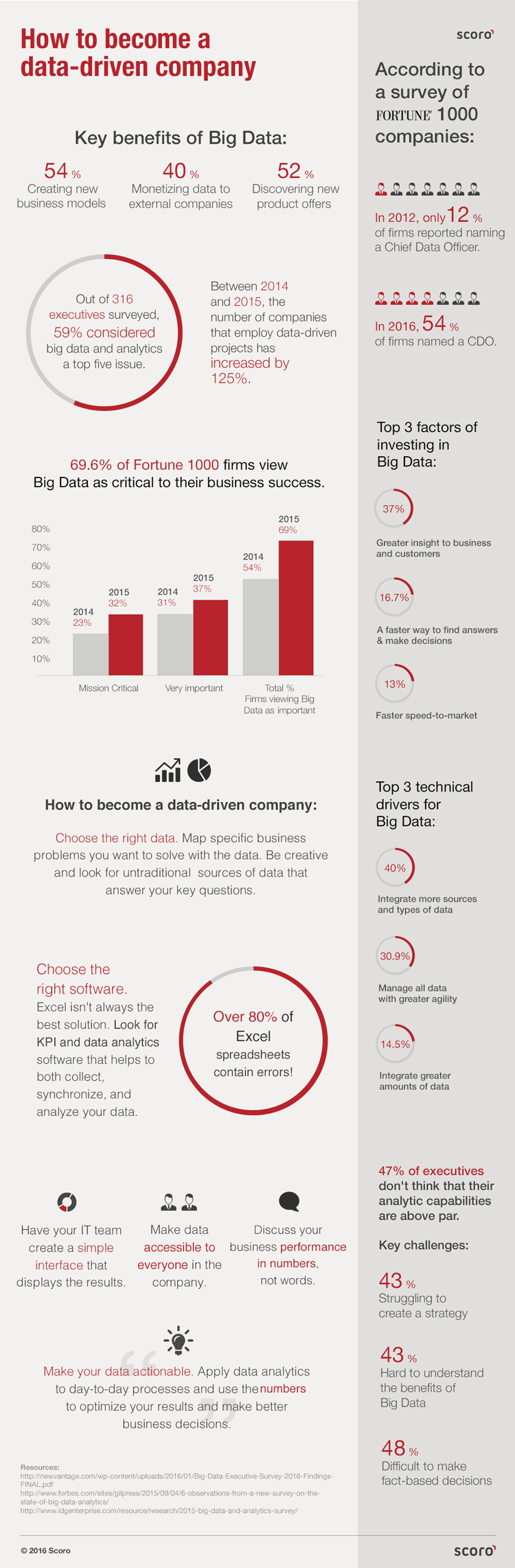 data-driven company Infographic