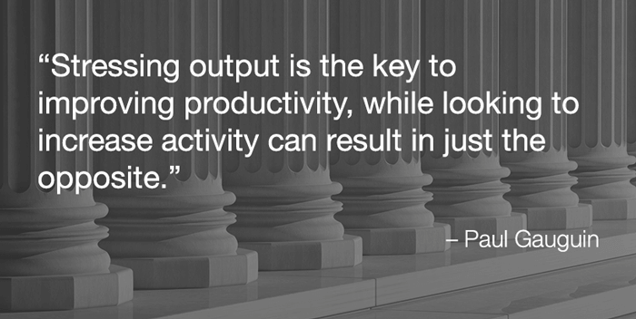 quote on productivity