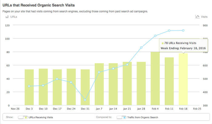 Moz search traffic report