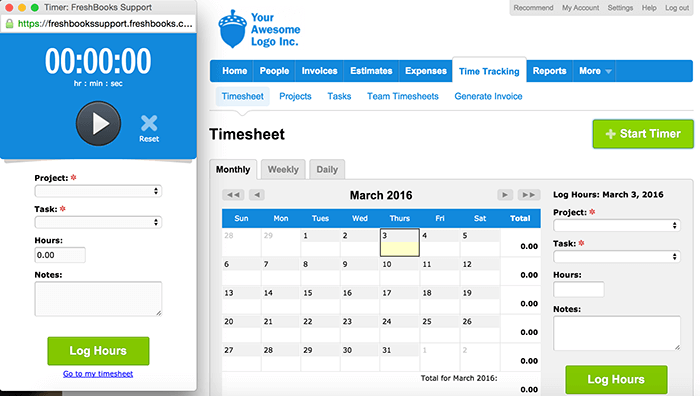 Time tracking tool