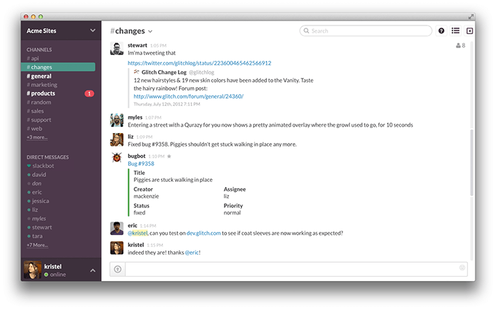 Slack collaboration tool