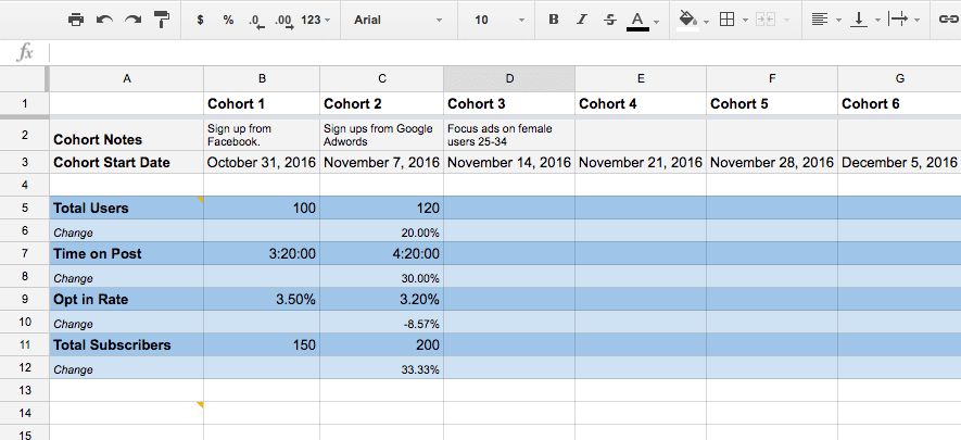 Excel table