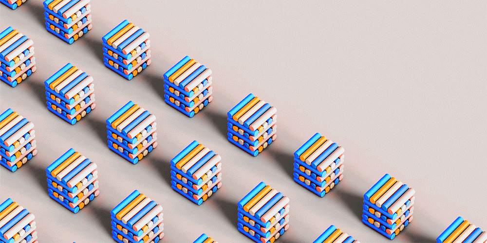 Rubics cubes made out of crayons