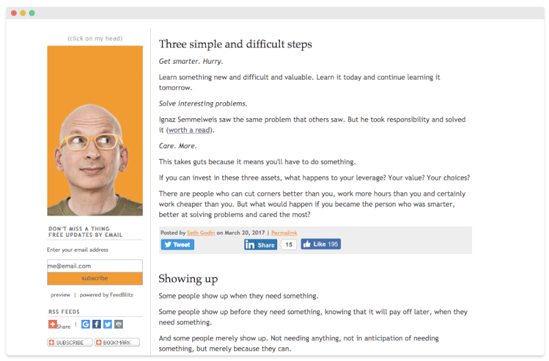 Seth Godin Business Blog