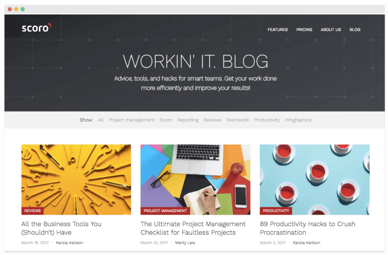 Scoro Business Blog - Workin' It