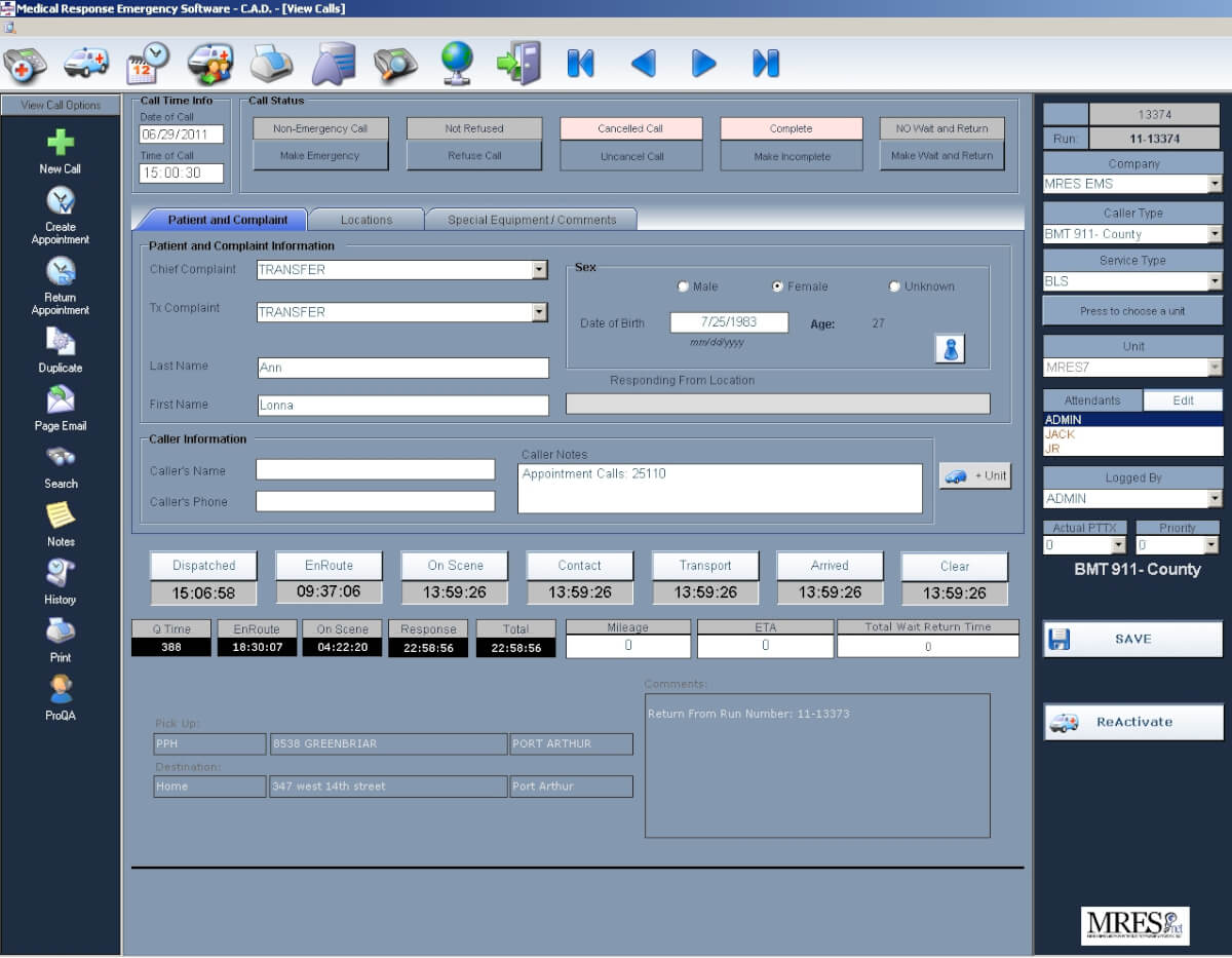 EMS event planning software