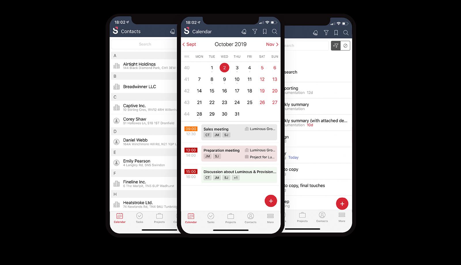 Scoro Mobile App screenshot
