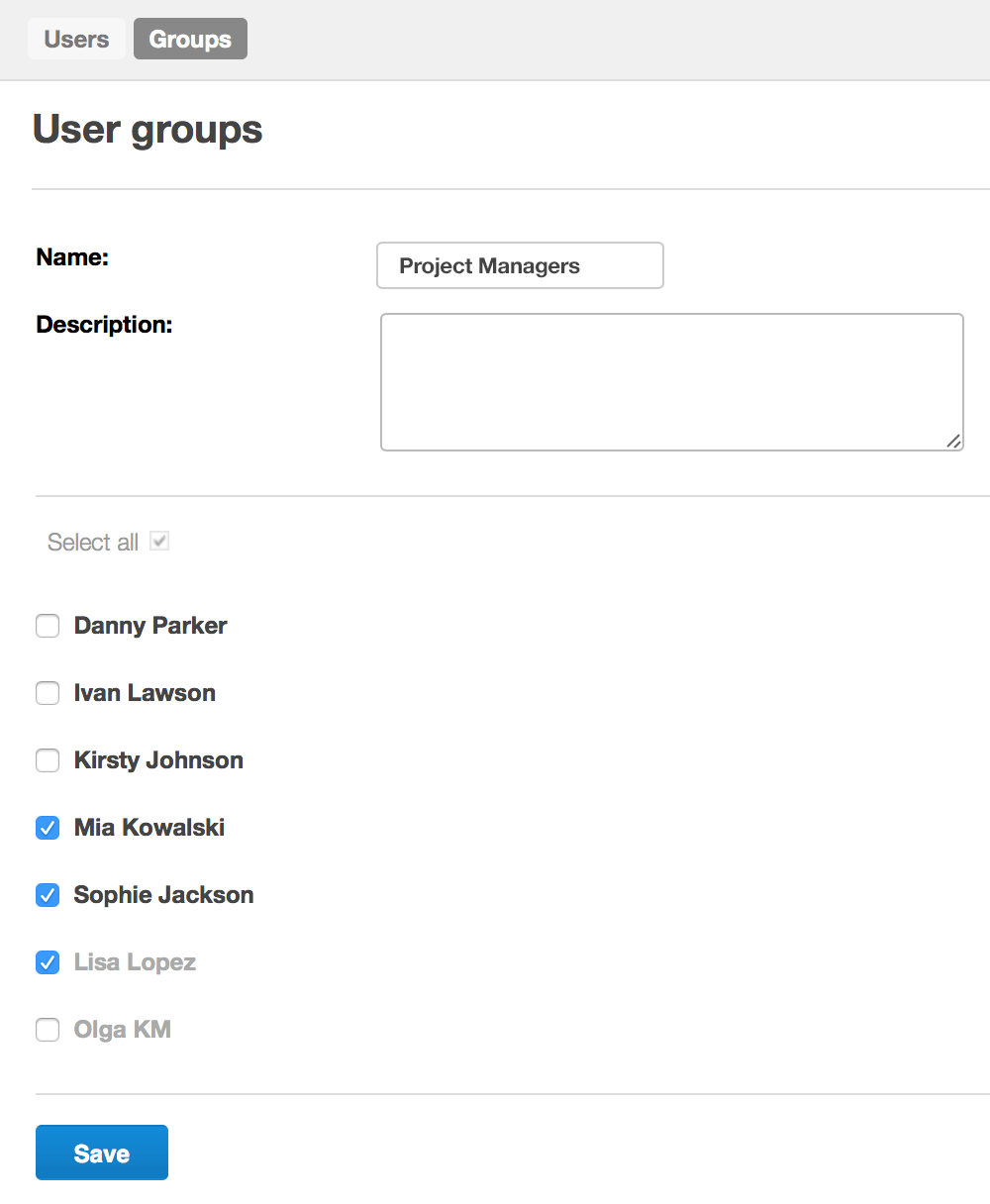Scoro User Groups Project Managers