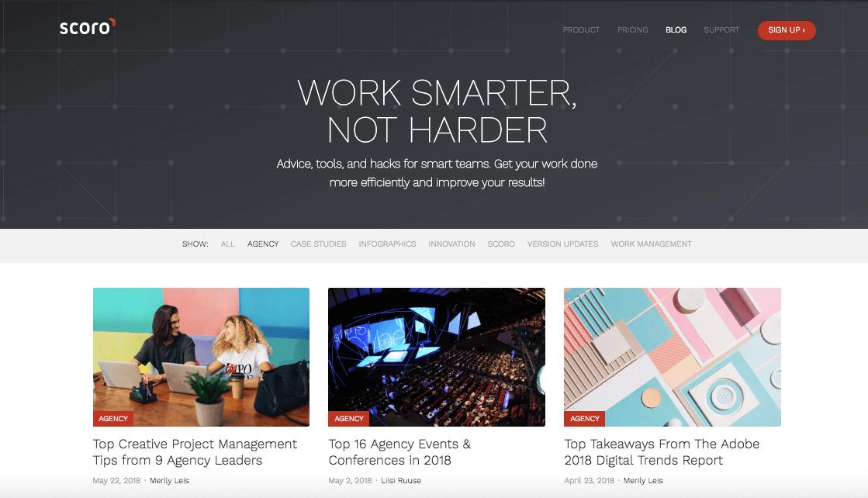 Work Smarter, Not Harder Scoro blog