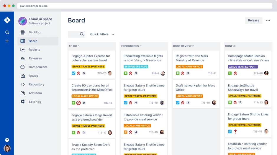 Jira product screenshot