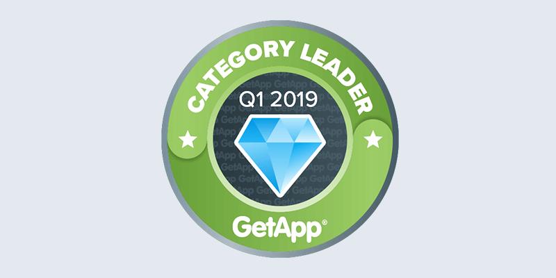 Scoro's GetApp category leader badge