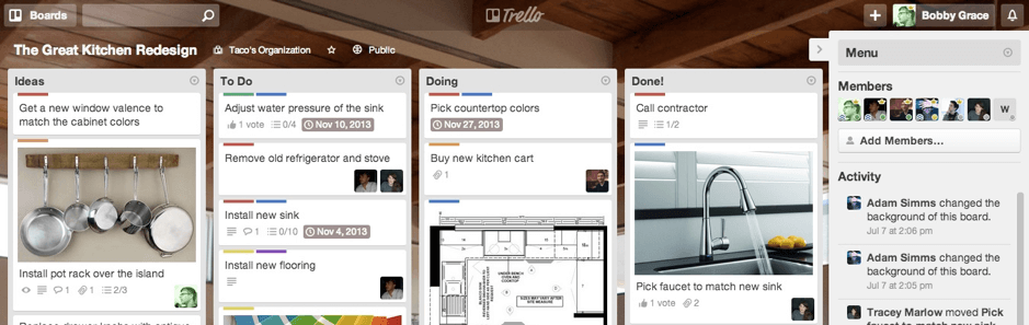 Trello product screenshot