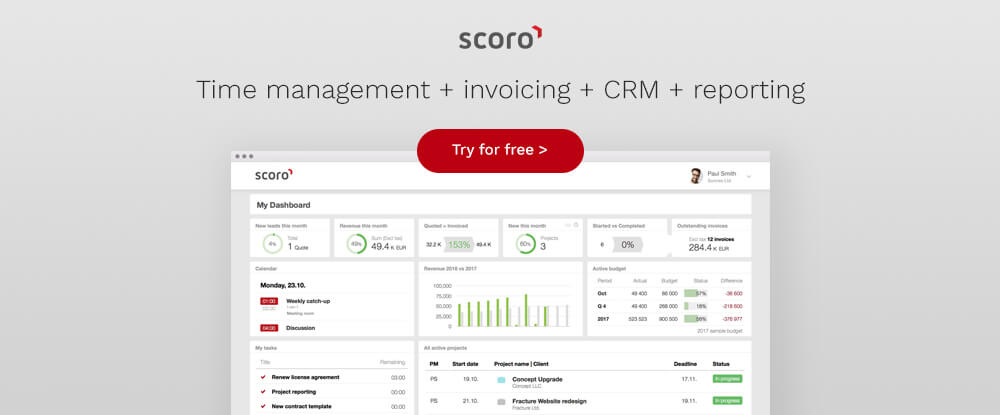 Time Management Software Scoro