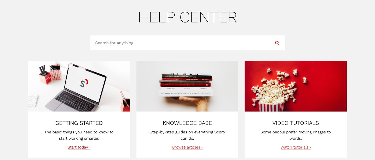 Scoro's Help Center