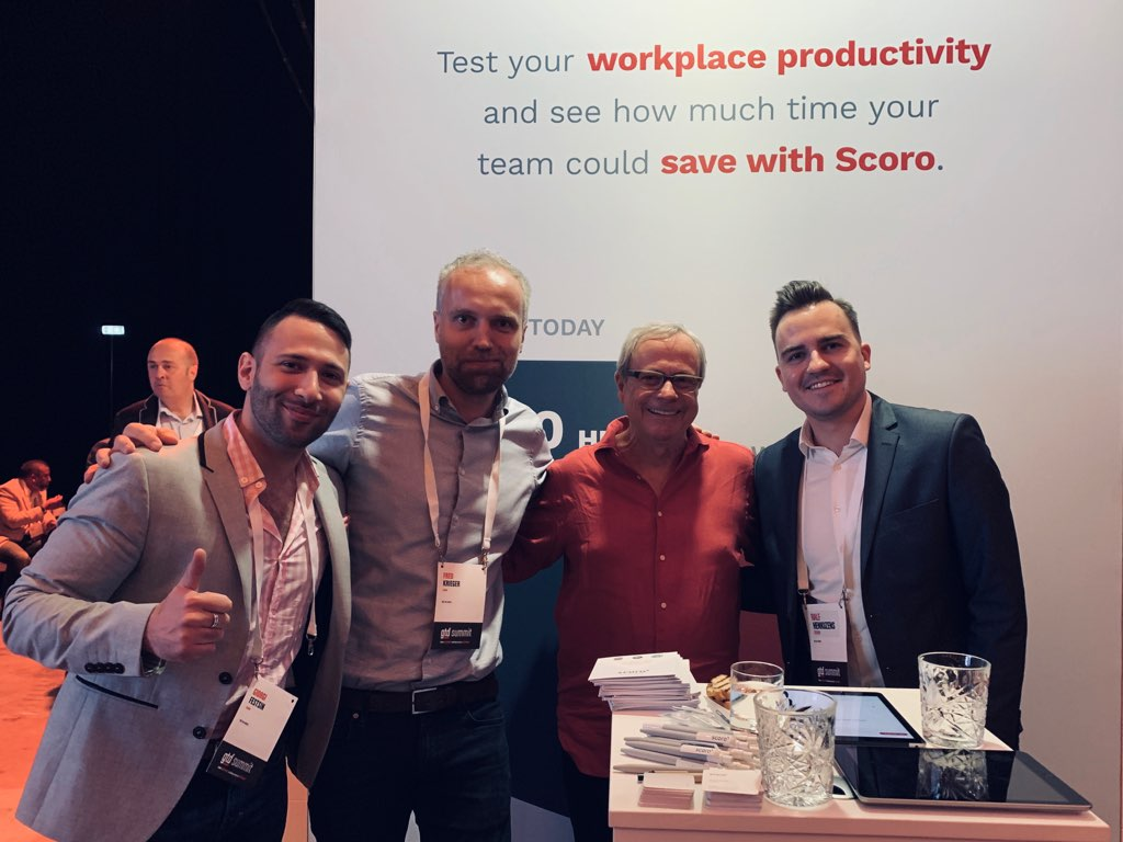 Scoro team and David Allen