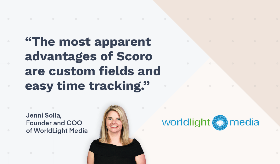 WorldLight Media case study with Scoro