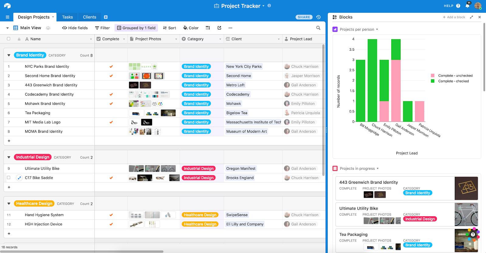 Airtable product screenshot