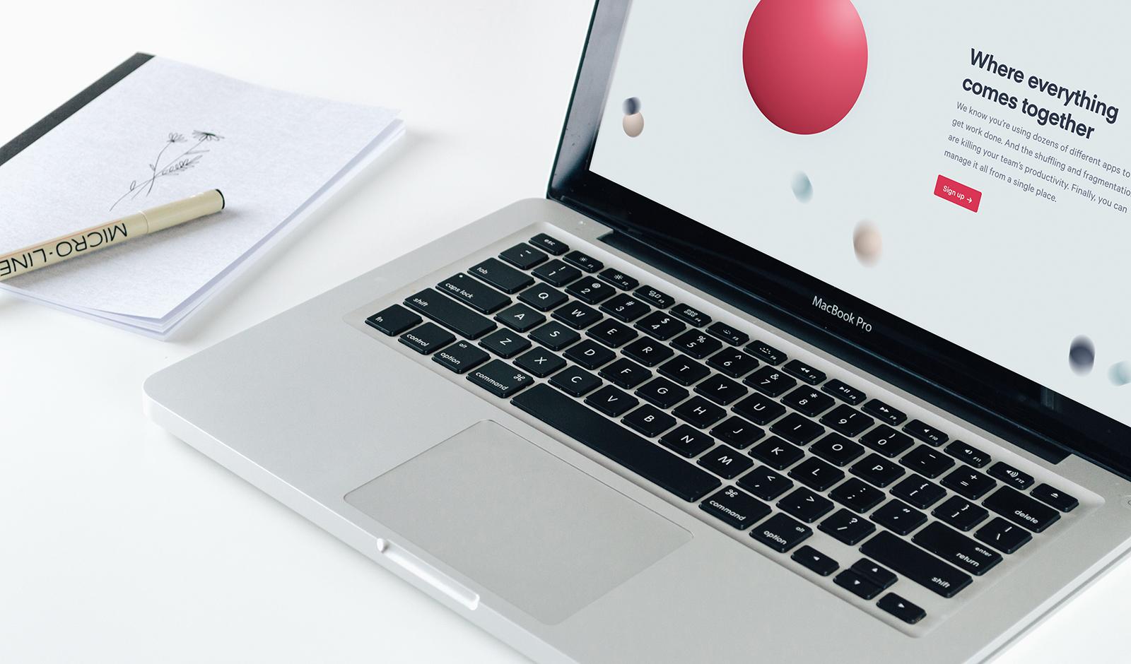 Scoro website x macbook