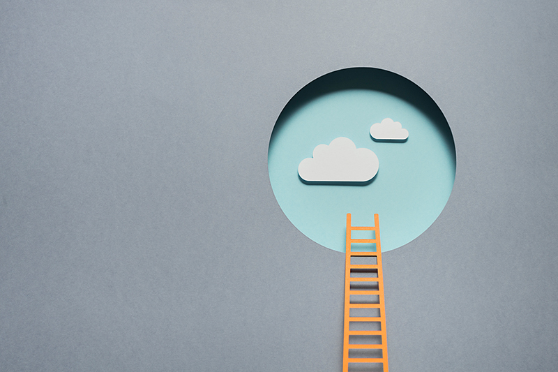 Ladder into the clouds