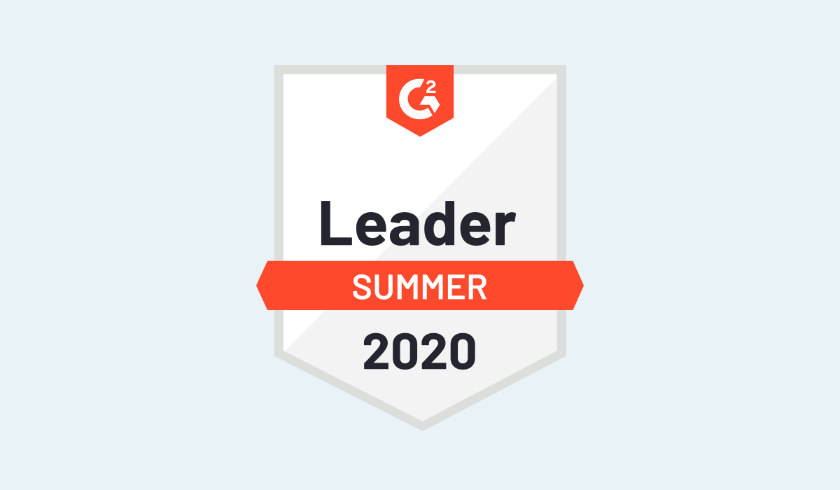 Scoro G2 Leader in Project management Badge