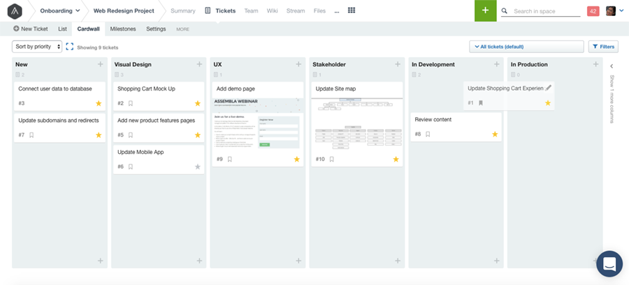 Assembla product screenshot