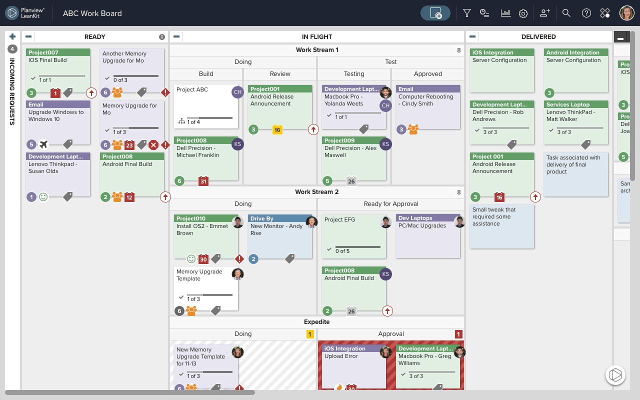 Planview product screenshot