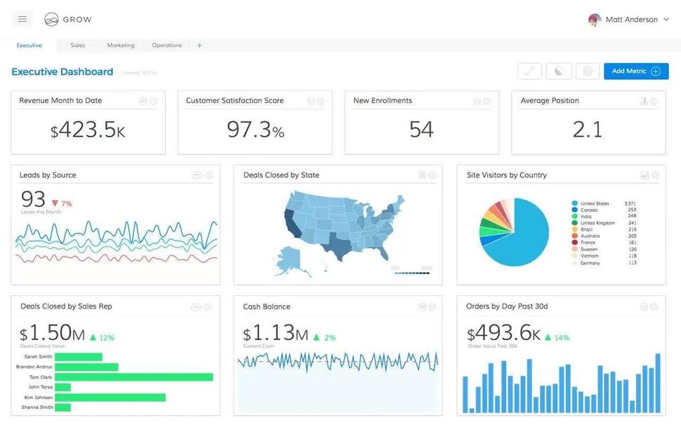 GROW product screenshot