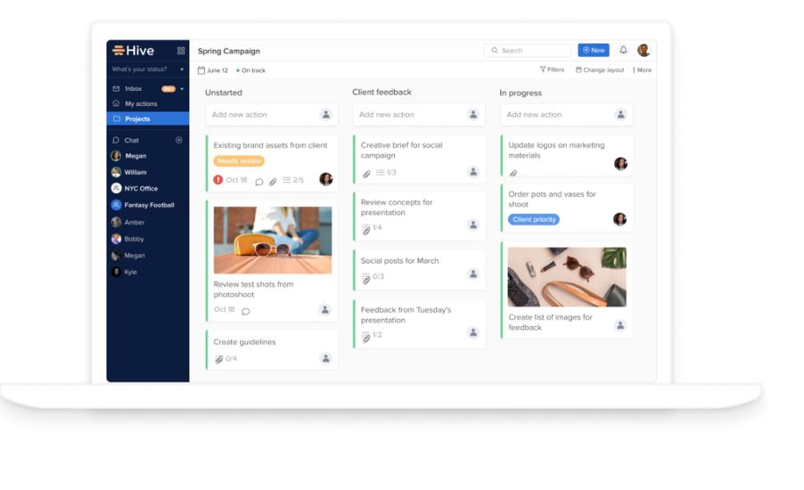 Hive product screenshot