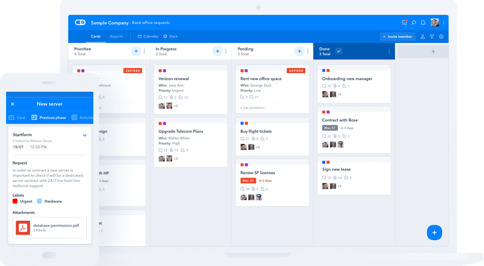 Pipefy product screenshot