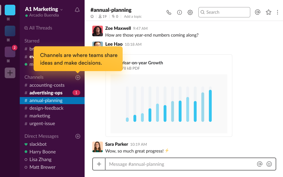 Slack product screenshot