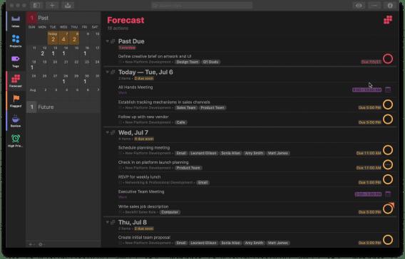 OmniFocus product screenshot