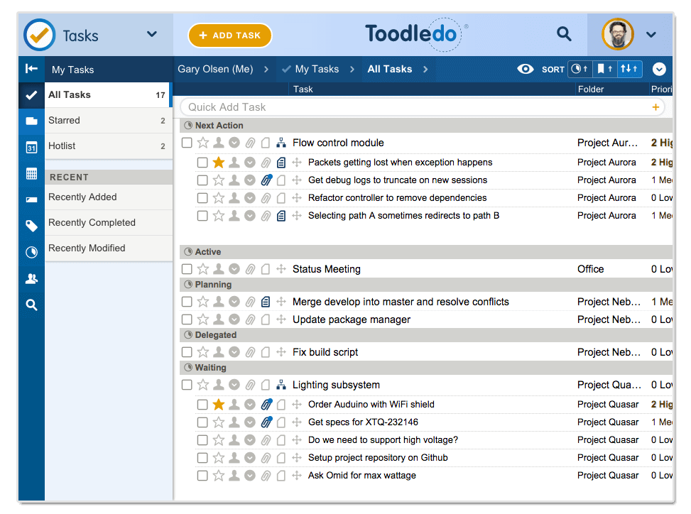 ToodleDo product screenshot