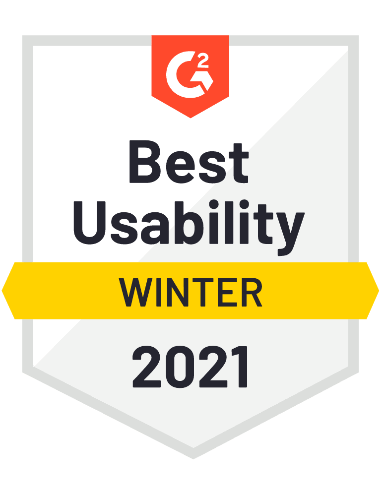 Scoro – G2 Best Usability badge