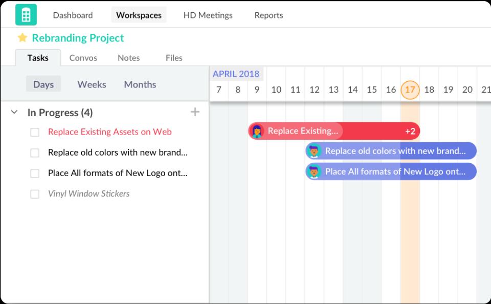 Redbooth product screenshot
