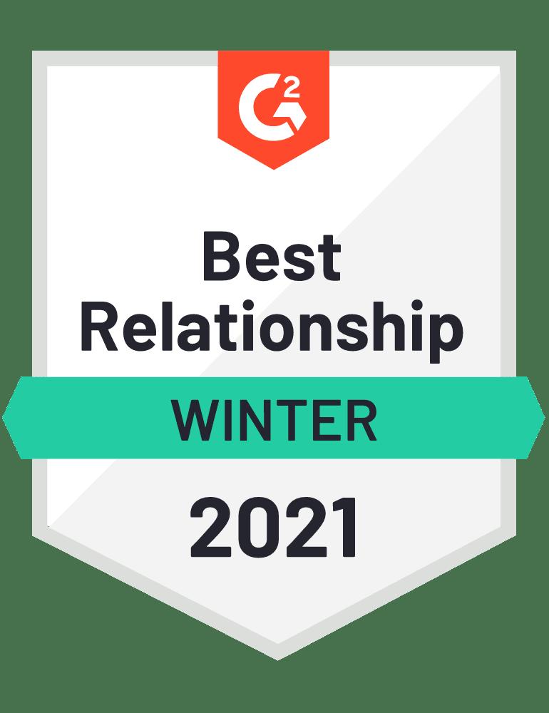 Scoro – G2 Relationship Index badge