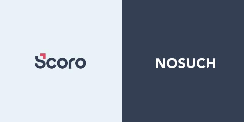 Scoro logo and NOSUCH logo