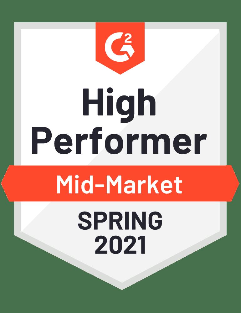 Scoro High Performer Mid-Market 2021