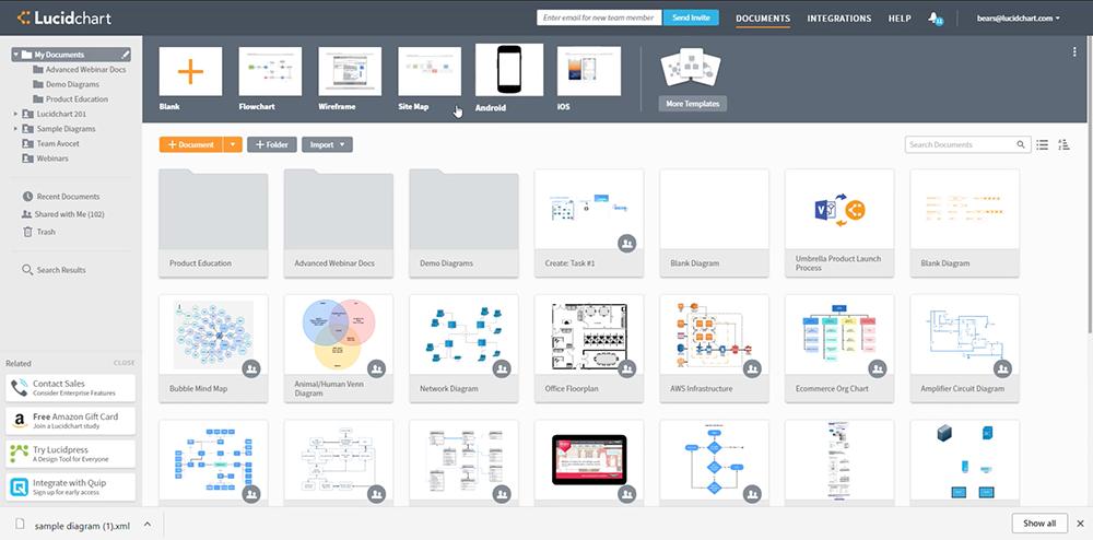 Lucidchart product screenshot