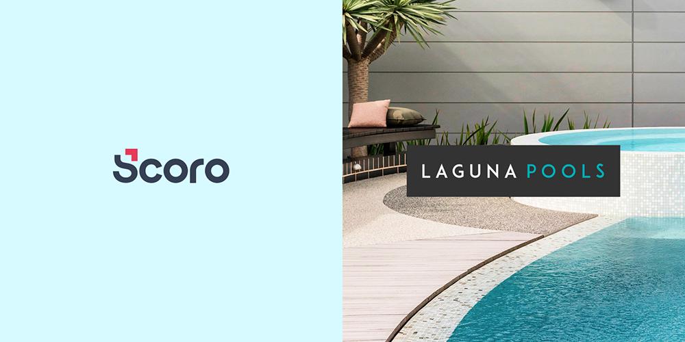 Scoro and Laguna Pools logos