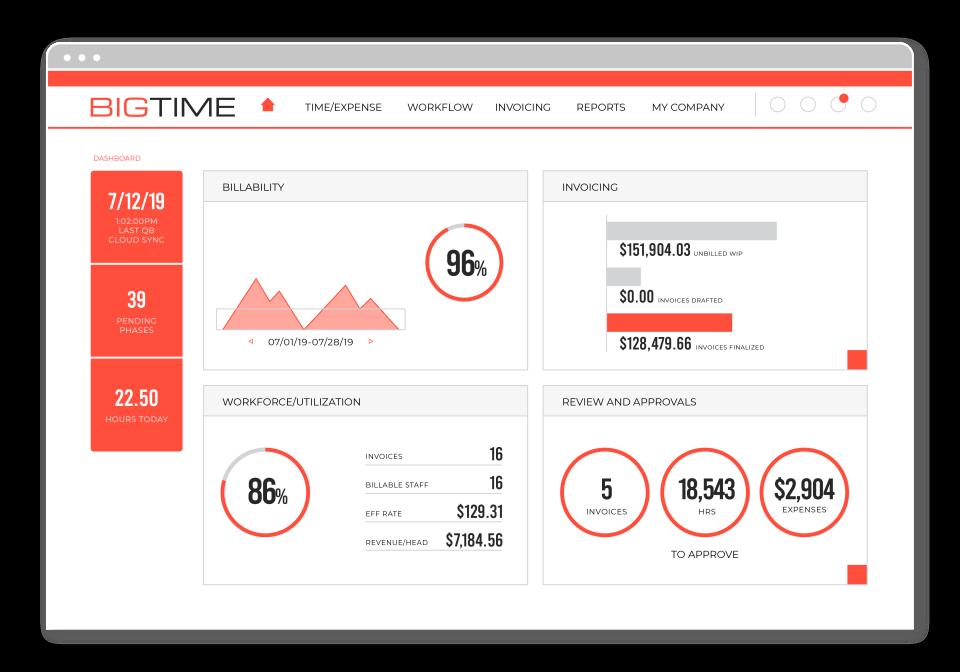 BigTime product screenshot