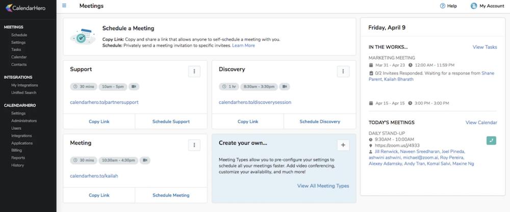 CalendarHero product screenshot