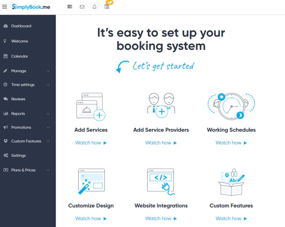 Simplybook.me product screenshot