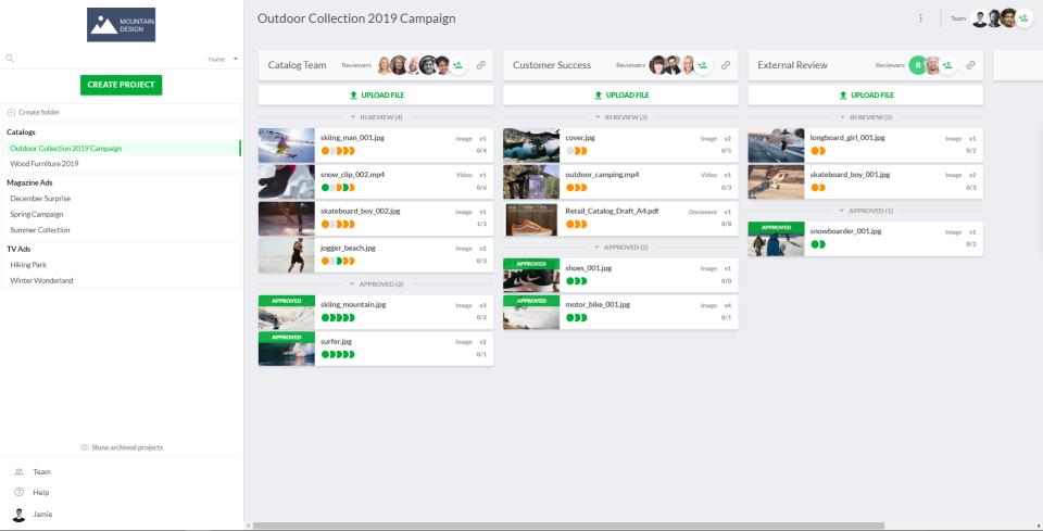 Filestage product screenshot